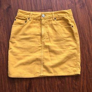 Yellow Corduroy Skirt UK size 10